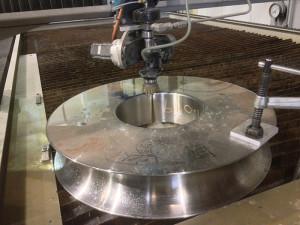 Cutting 6.5 inch steel